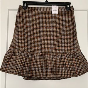 J.CREW Mini Plaid Skirt - Never Worn!
